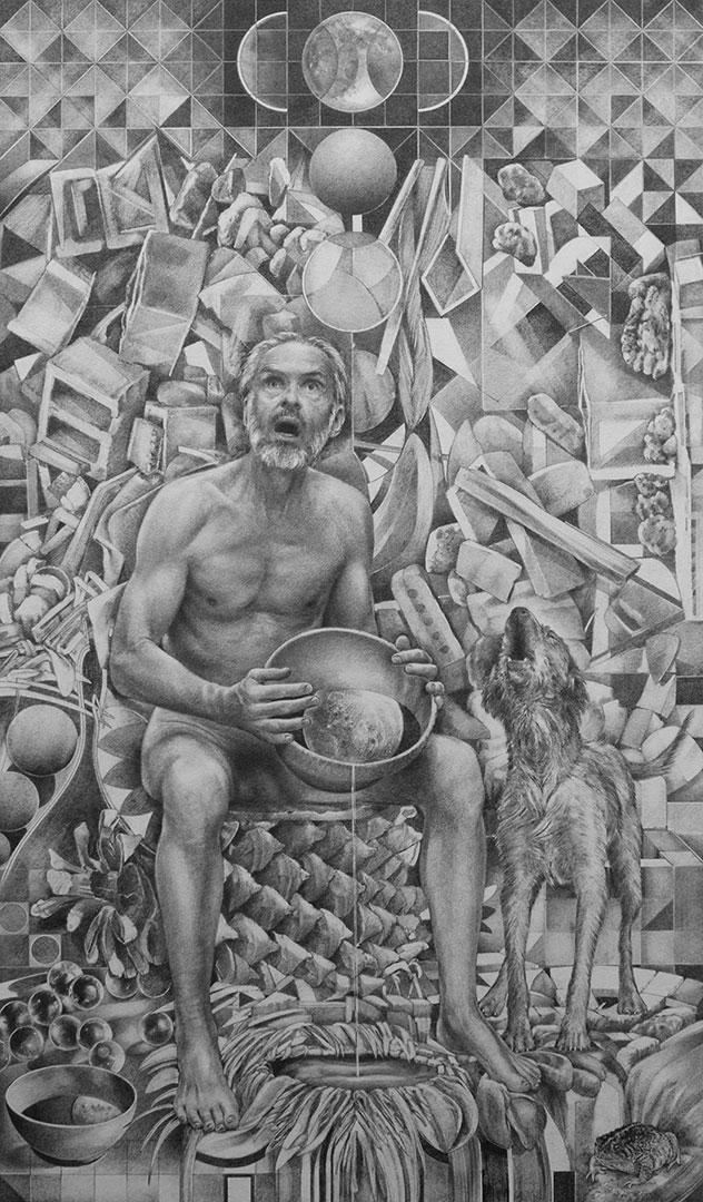 Howlin at the entangled moon - Richard Jacobi Drawings