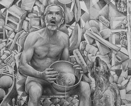 Howlin - Drawing by Richard Jacobi - The Mythologies