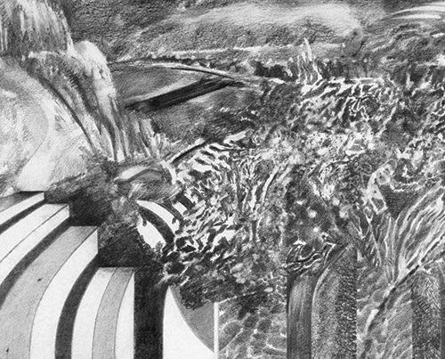 Keyboard - Richard Jacobi Drawings - The Mythologies - String Theory