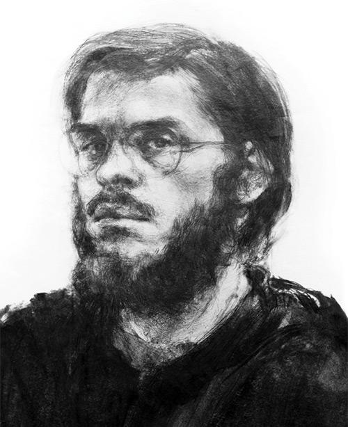 Richard Jacobi - Self Portrait, Graphite and Charcoal/Paper